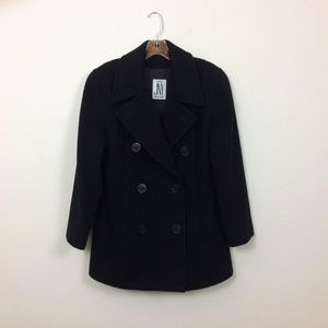 Jones New York Black Pea Coat